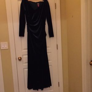 Velvet Gown - Flattering for Full-Figured